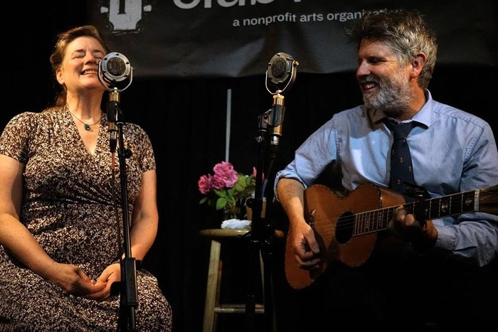 Ry Cavanaugh and Rose Poplenzani  singing harmony with