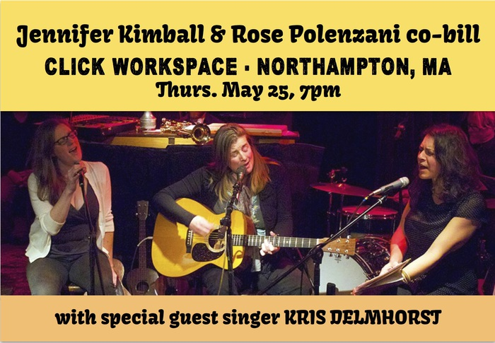 Cobill with Rose Polenzani special guest harmony singer Kris Delmhorst