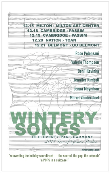 Wintery Songs in Eleventy Part Harmony 1215 - 1221