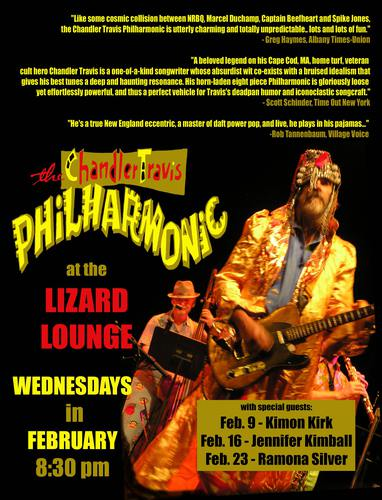 Jenn plays with Chandler Travis Philharmonic Lizard WED 216 8pm